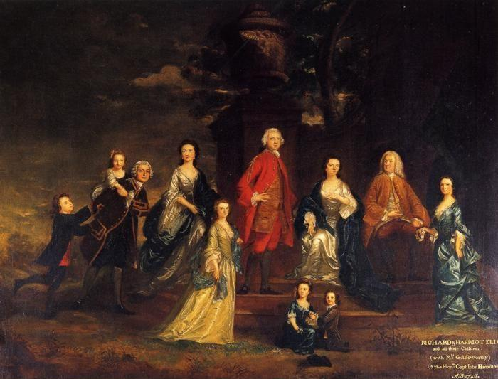 Sir Joshua Reynolds. The Eliot Family.