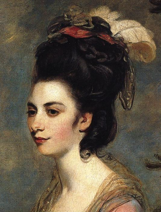 Sir Joshua Reynolds. Mrs Richard CroftsÑŽ Detail.