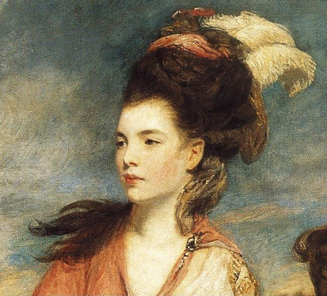 Sir Joshua Reynolds. Jane, Countess  of Harrington. Detail.