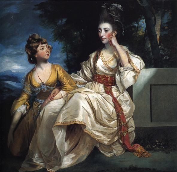 Sir Joshua Reynolds. Mrs Henry Thrale  with Her Daughter.