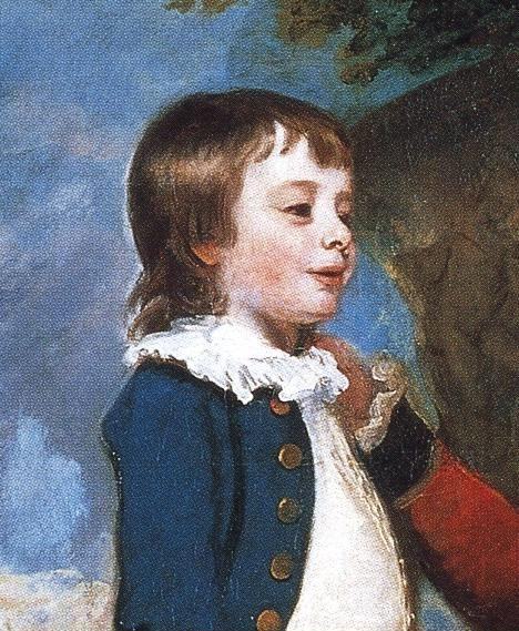 Sir Joshua Reynolds. George Grenville,  Earl Temple, Mary, Countess Temple, and Their Son Richard. Detail.