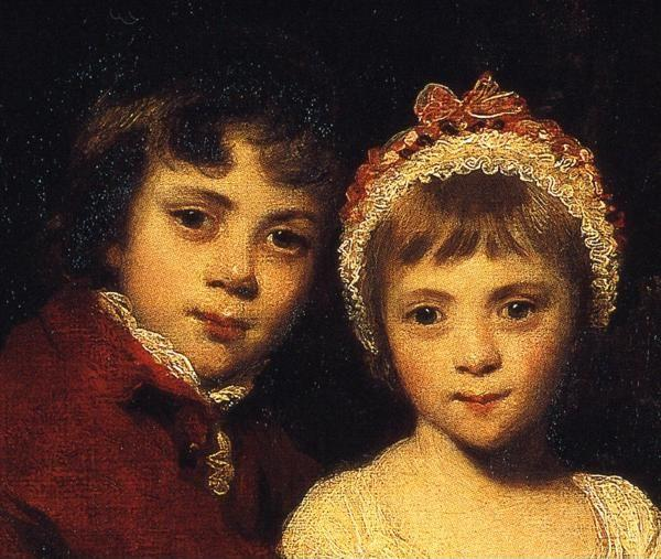 Sir Joshua Reynolds. John Parker and  His Sister Theresa. Detail.
