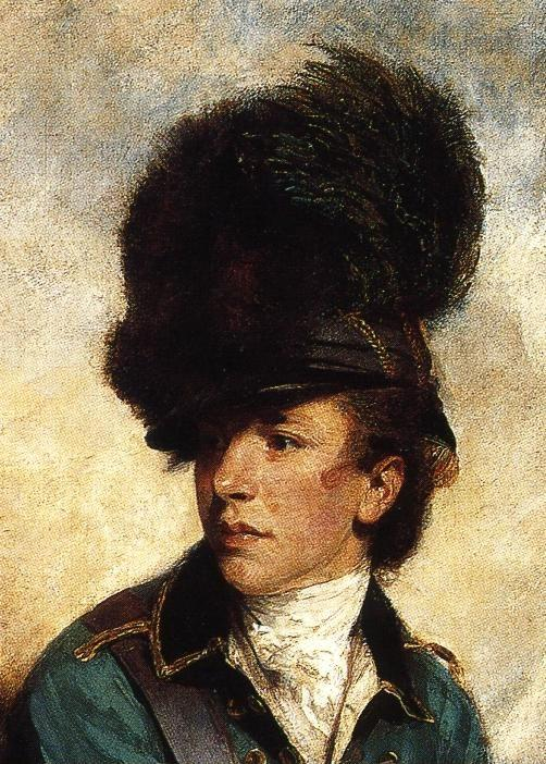 Sir Joshua Reynolds. Colonel Tarleton. Detail.