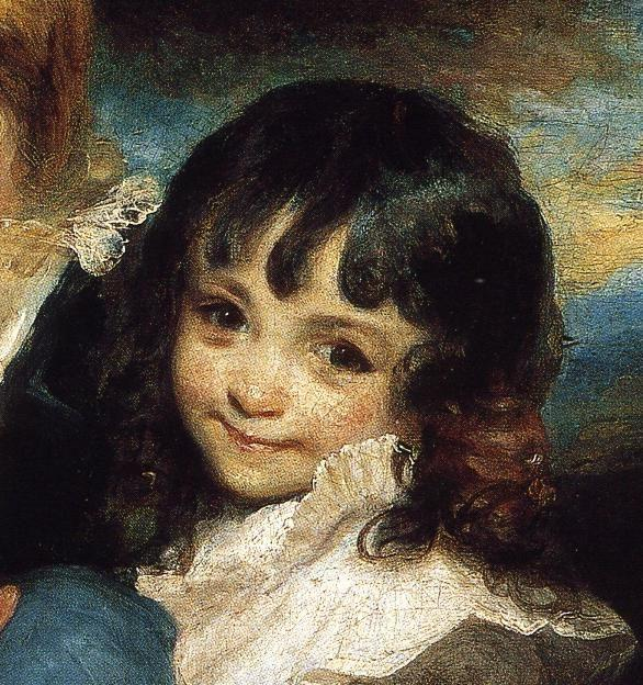 Sir Joshua Reynolds. Lady Smith and  Children. Detail.
