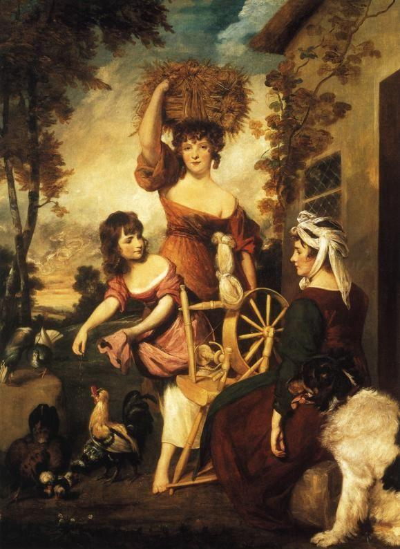 Sir Joshua Reynolds. Mrs and Miss  Macklin, with Miss Potts.