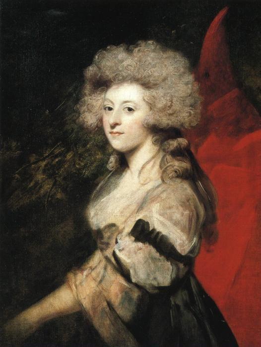 Sir Joshua Reynolds. Portrait of Maria  Anne Fitzherbert.