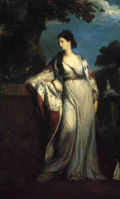 Sir Joshua Reynolds. Elizabeth, Duchess  of Hamilton and Argyll.
