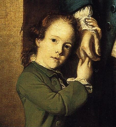 Sir Joshua Reynolds. Edward Morant  and His Son John. Detail.
