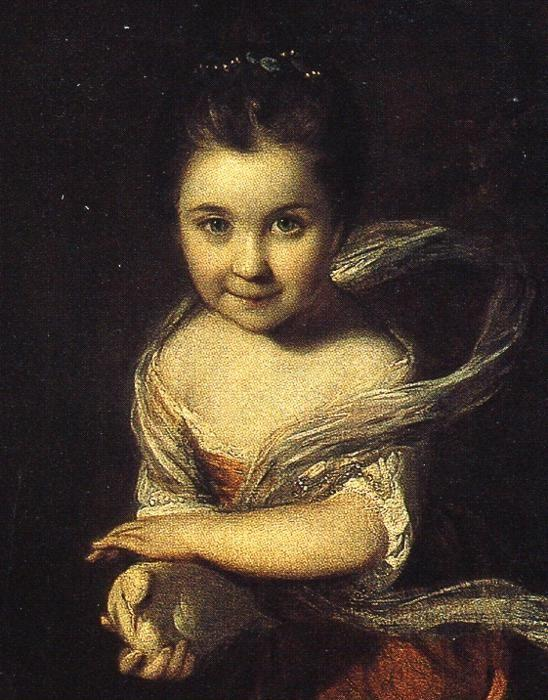 Sir Joshua Reynolds. Ladies Amabel  and Mary Jemima Yorke. Detail.