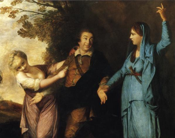Sir Joshua Reynolds. David Garrick  Between Tragedy and Comedy.