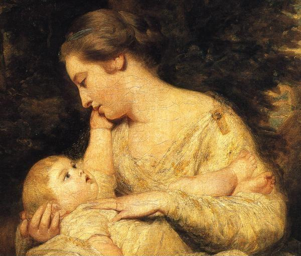 Sir Joshua Reynolds. Mrs Richard Hoare  and Child. Detail.