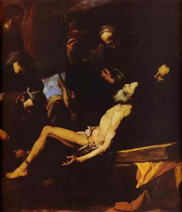 Jusepe de Ribera. The Martyrdom of  St. Andrew.