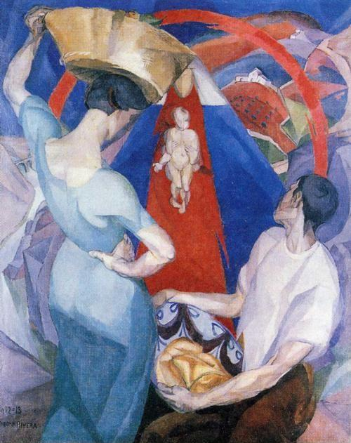 Diego Rivera. The Adoration of the Virgin.