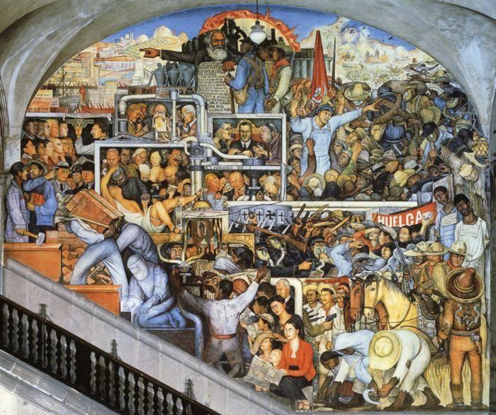 History:This is the painting of the Mexican history . It shows ...