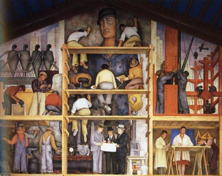Diego Rivera. The Making of a Fresco, Showing  the Building of a City.