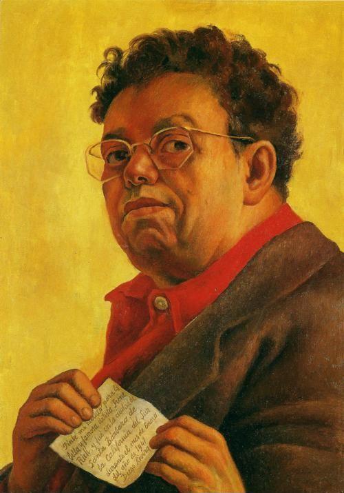 Diego Rivera Self Portrait Dedicated To Irene Rich