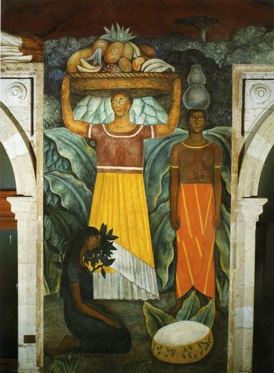 Diego Rivera. From the cycle: Political Vision  of the Mexican People: Tehuana Women. / Mujeres tehuanas.