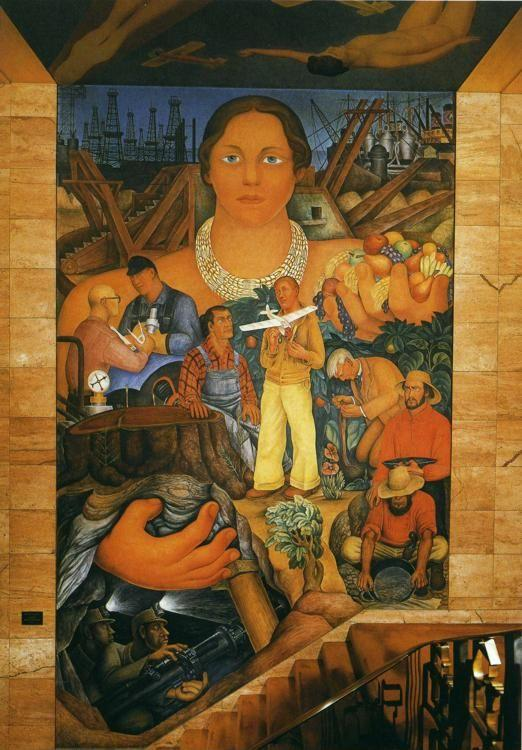 Diego Rivera. Allegory of California. / Alegoria  de California.