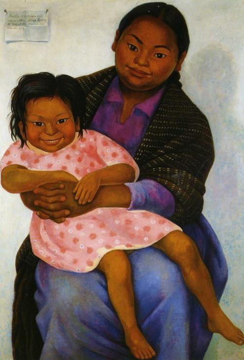 Diego Rivera. Portrait of Madesta and Inesita.  / Retratos de Modesta y Inesita.