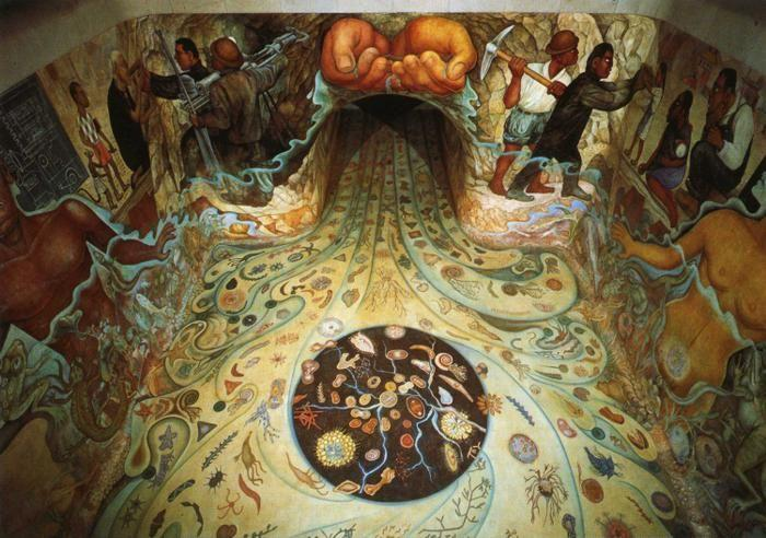 Diego Rivera The Hands Of Nature Offering Water Manos