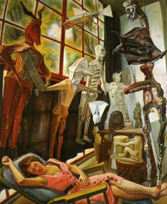 Diego Rivera. The Painter's Studio. / Estudio  del pintor.