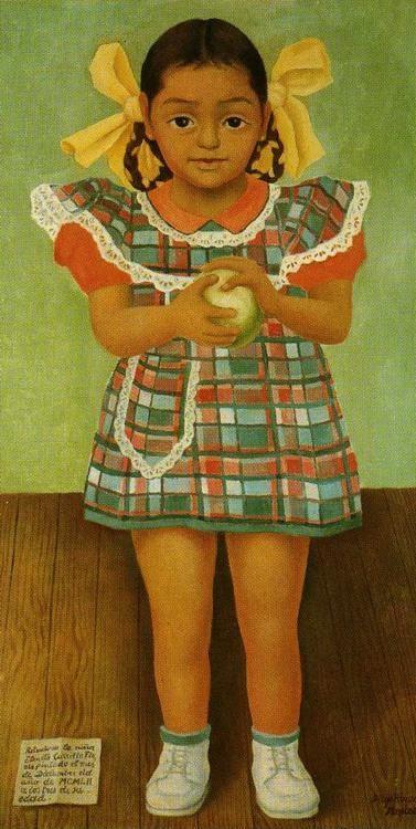 Diego Rivera Portrait Of The Young Girl Elenita Carrillo