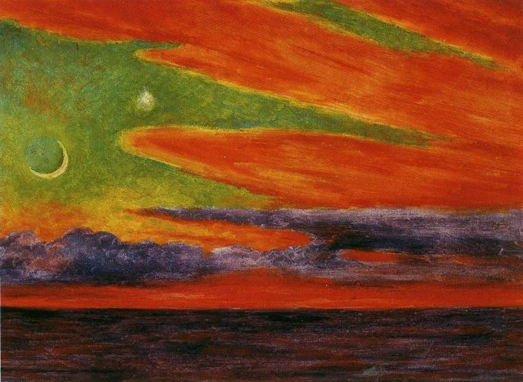 Diego Rivera. Evening Twilight at Acapulco.  / Atardecer en Acapulco.