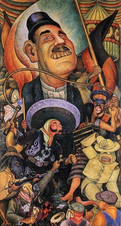 Diego Rivera. Carnival of Mexican Life. Dictatorship.