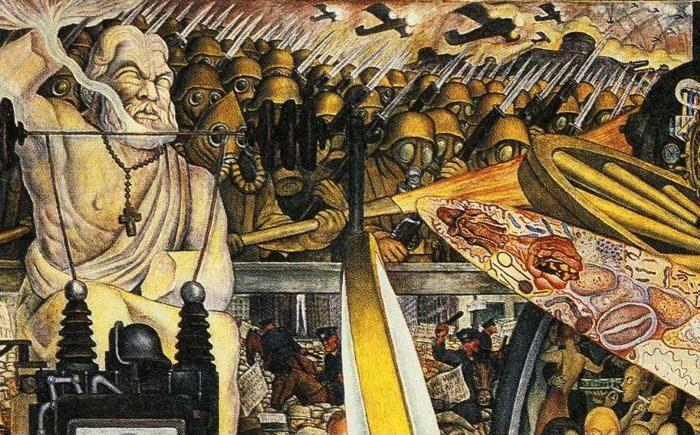 Diego Rivera. Man, Controller of the Universe. Detail.