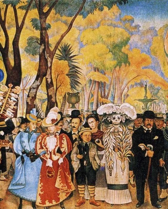 Diego Rivera. Dream of a Sunday Afternoon  in Alameda Park. Detail.