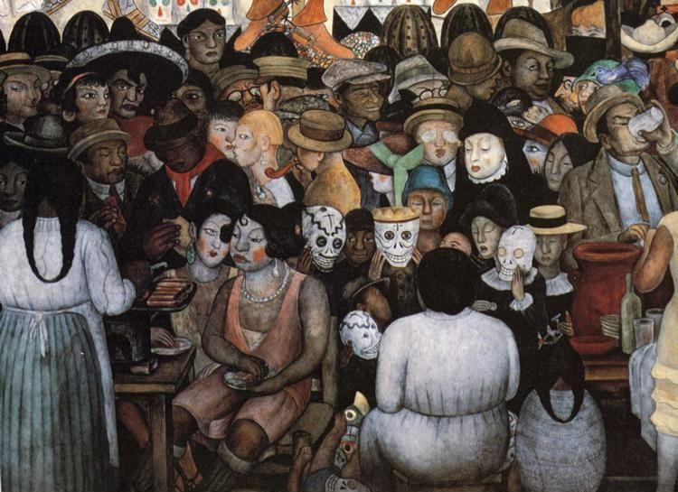 Diego Rivera. The Day of the Dead. Detail.