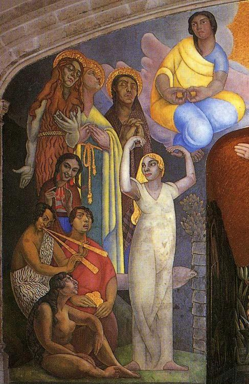 Diego Rivera. Creation. / La creación. Detail.