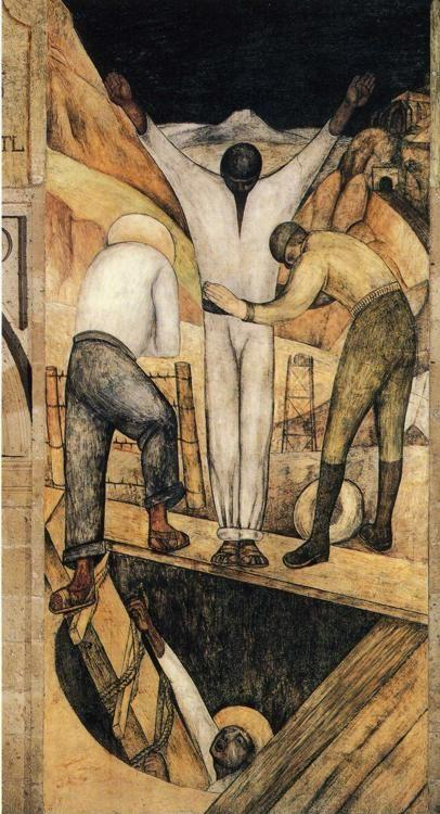 Diego Rivera. From the cycle: Political Vision  of the Mexican People (Court of Labor): Exit from the Mine.