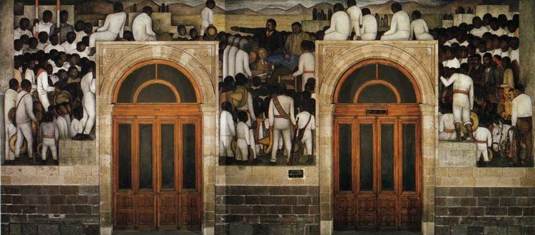 Diego Rivera. The Festival of the Distribution  of the Land.