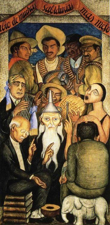 Diego Rivera. The Learned.