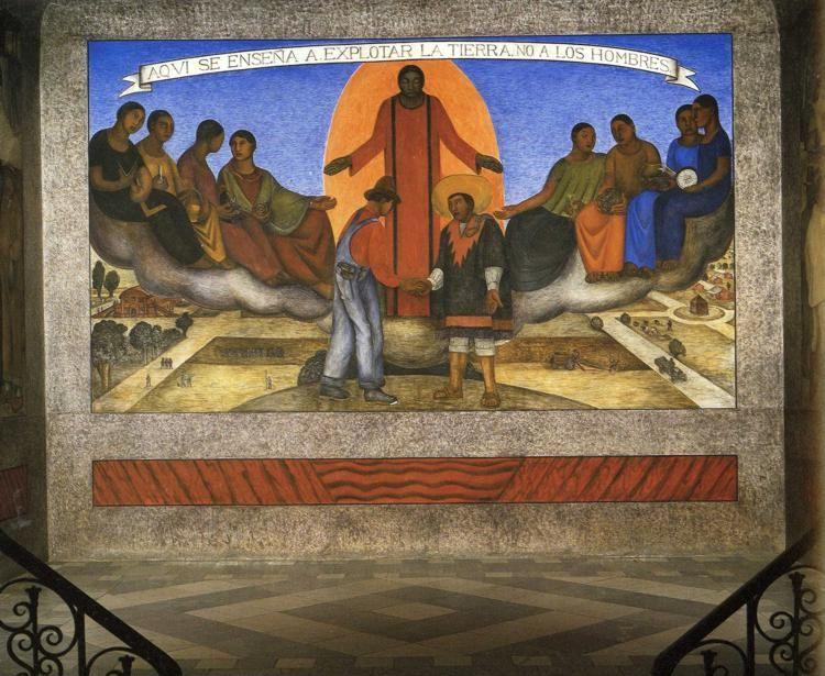 Diego Rivera. Alliance of the Peasant and  the Industrial Worker.