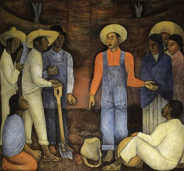 Diego Rivera. The Organization of the Agrarian  Movement.