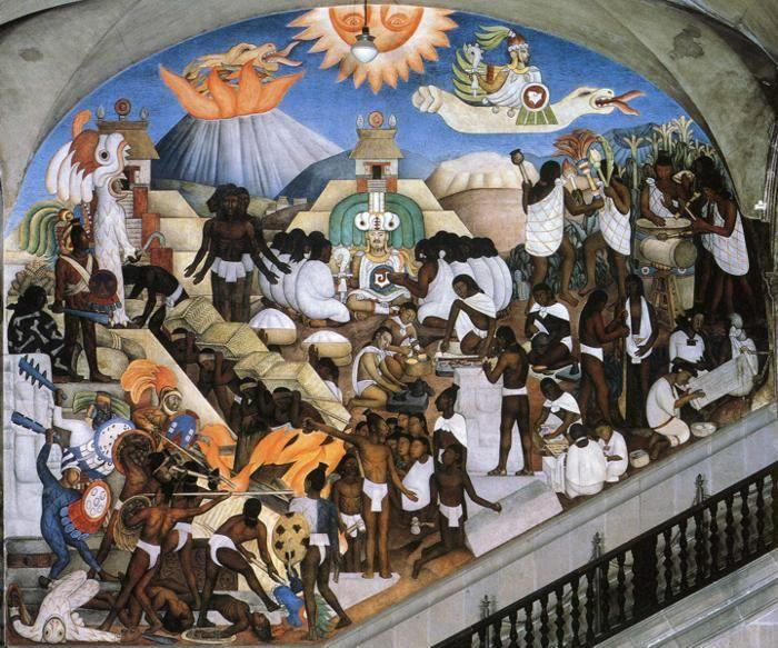 Diego Rivera. The History of Mexico - The  Ancient Indian World.