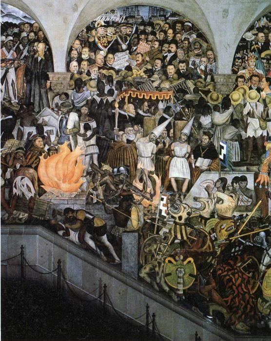 Diego rivera the history of mexico olga 39 s gallery for Diego rivera mural 1929