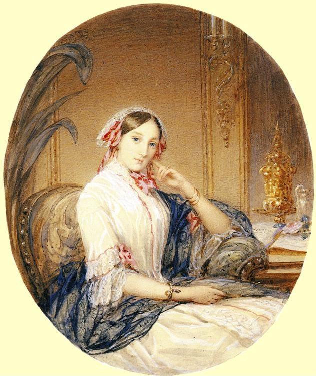 Christina Robertson. Portrait of Grand Duchess  Maria Nikolaevna.