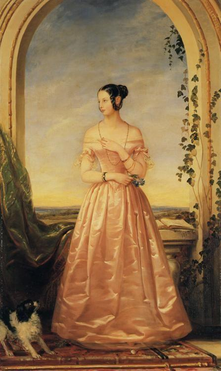 Christina Robertson. Portrait of Grand Duchess  Alexandra Nikolaevna.