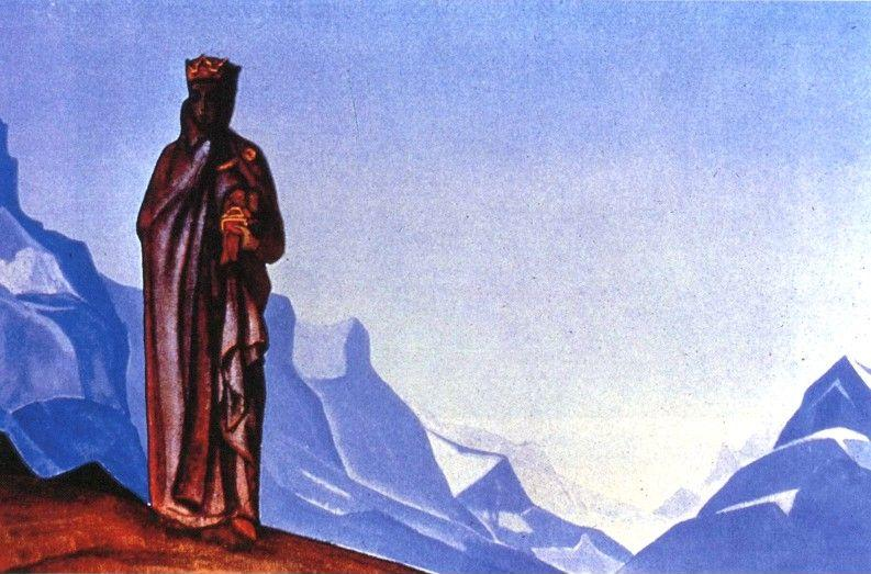 Nicholas Roerich. She Who Carries the Stone.