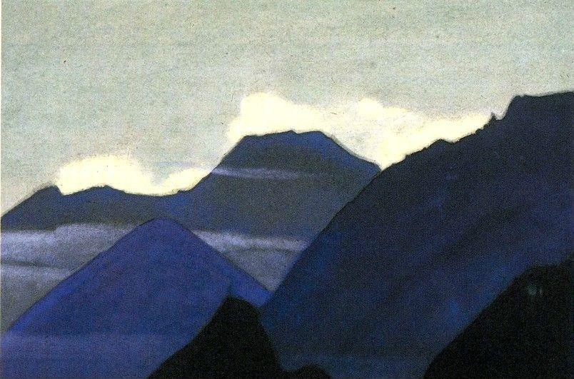 Nicholas Roerich. Kaluta. Mountains at Dawn.