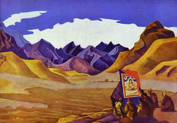 Nicholas Roerich. Banner of the Future. From the 'Maitreya' series.