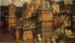 Nicholas Roerich. Town in Construction.