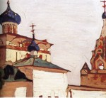 Nicholas Roerich. Old Russia, Yaroslav. Church of the Nativity of Our Lady.