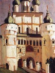 Nicholas Roerich. Old Russia, Rostov the Great. Entrance to the Kremlin.