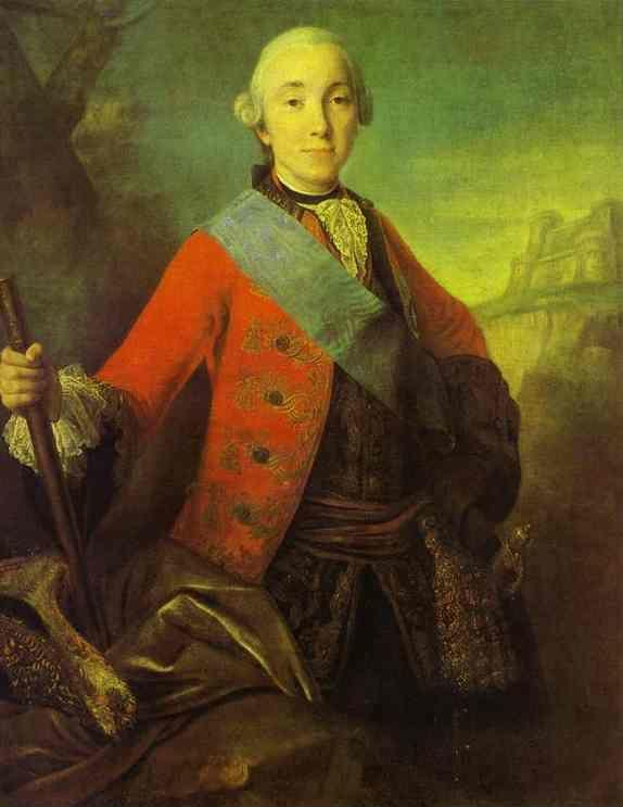 Fedor Rokotov. Portrait of Great Duke  Peter Fedorovich, Later Emperor Peter III.
