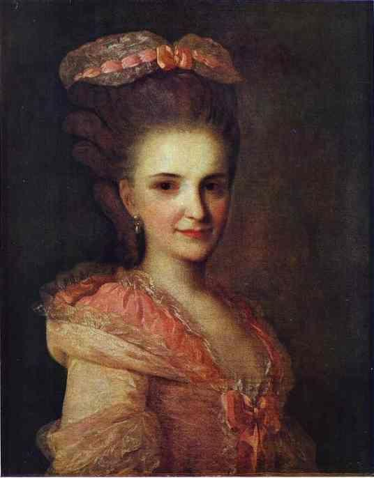 Fedor Rokotov. Portrait of an Unknown  Lady in a Pink Dress.