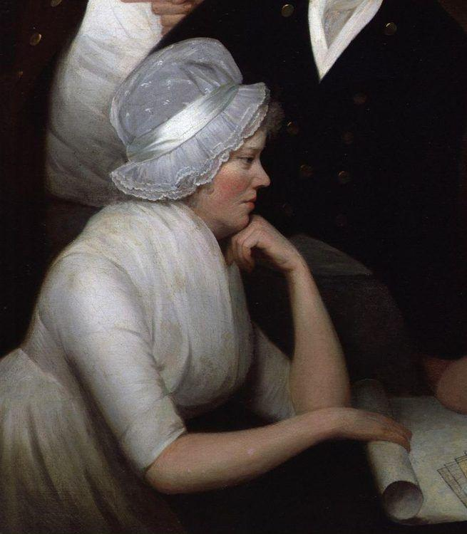 George Romney. Adam Walker and His Family. Detail.